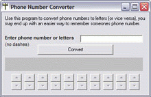 Phone Number Converter