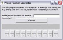 Phone Number Converter