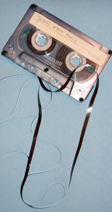 One of the older Maxell cassettes that got examined and tossed