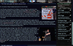 About Ryan Grabow page under version 28